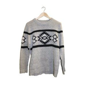 Forever 21 Aztec Crewneck Pullover Knit Sweater